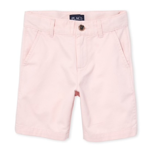 Children's Place Other - Boy's Pink Uniform Chino Shorts 8